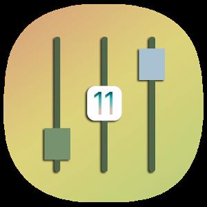 iOS 11 Control Center with X Home Bar