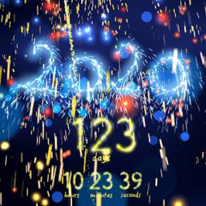 New Year 2020 countdown premium